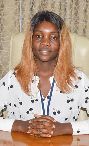 Fochnelle Grâce LOUBELO LOUSSAMBOULOU, Secrétaire particulière du Directeur de Cabinet du Ministre délégué